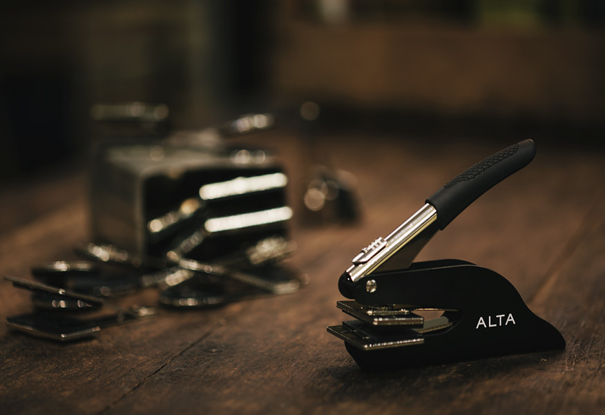 The Alta embossed stamp: pure class and elegance combined in one package